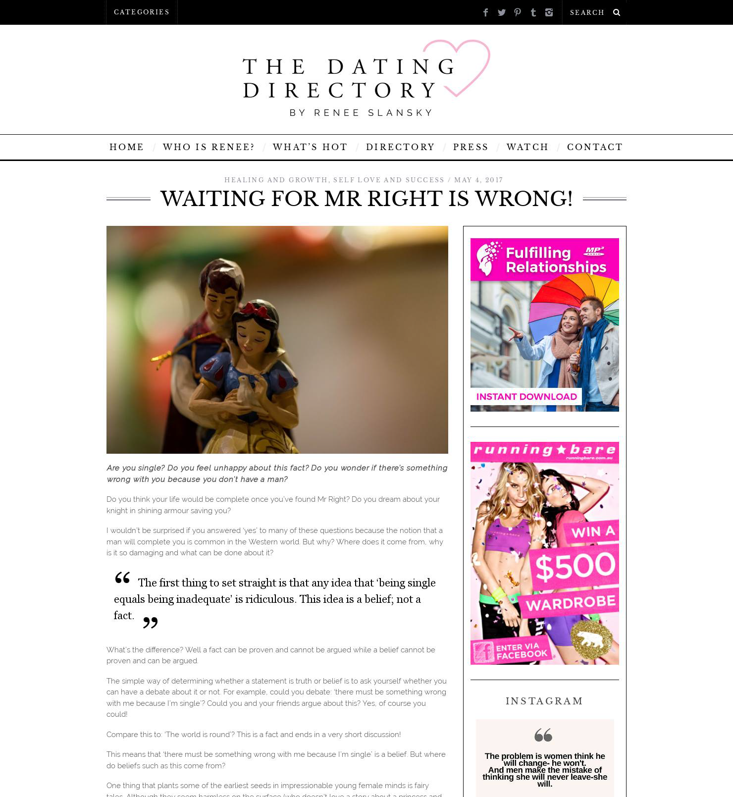 Dating directory del sito Web